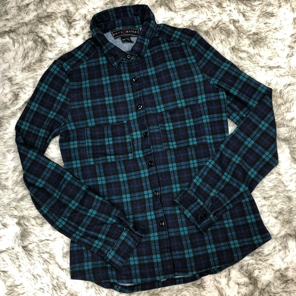 Polly & Esther Tops - Polly & Esther | Plaid Button Down Flannel Shirt